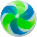 YBU025 - BLGR : Bleu & Vert