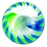 YBU061 - BLGR : Bleu & Vert