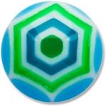 YBU020 - BLGR : Bleu & Vert