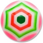 YBU020 - PIGR : Rose & Vert