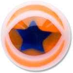 YBU034 - ORBL : Orange & Bleu