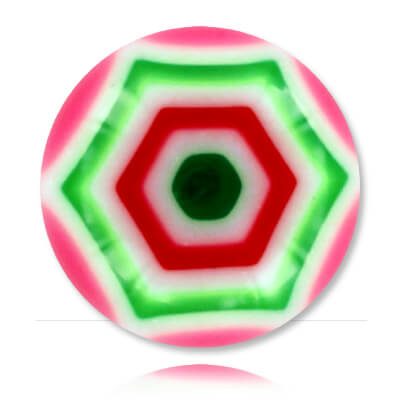 XBU042 - PIGR : Rose & Vert