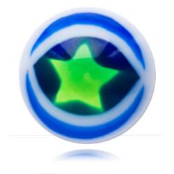 YBU034 - BLGR : Bleu & Vert