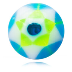 YBU045 - BLGR : Bleu & Vert