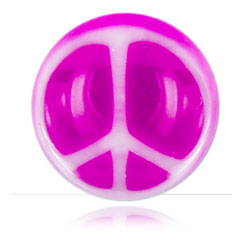 Boule acrylique Peace and Love pour 1.6mm