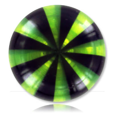 YBU078 - BKGR : Noir & Vert
