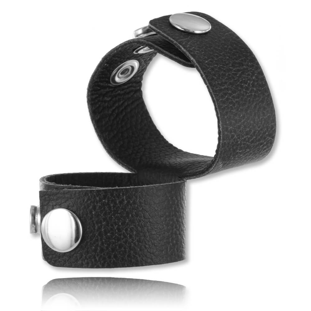 Cockring ballstrecher cuir Double Strap