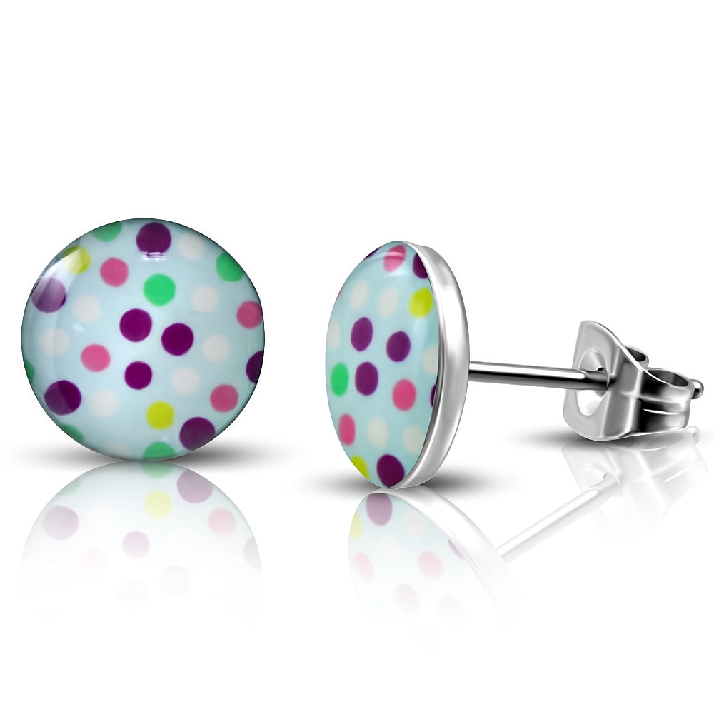 Clous d'oreille acier logo Girly Dots