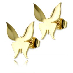 Clous d'oreille plaqué or 14k Papillon