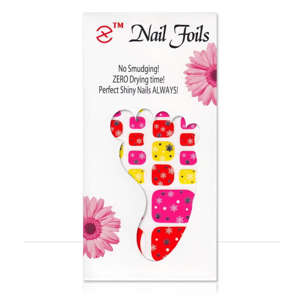 Pack stickers 22 ongles Flocons