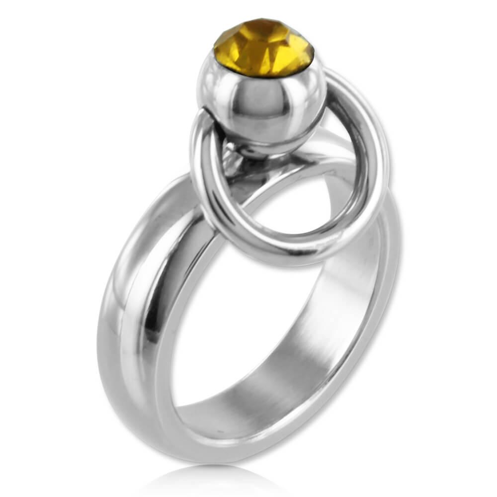 Bague BDSM acier anneau d'O - Louka