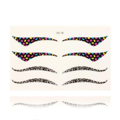 D coration sticker contour yeux couleur a zspe051 for Decoration yeux