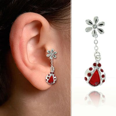 bijou de cartilage lobe et tragus coccinelle mgas017. Black Bedroom Furniture Sets. Home Design Ideas