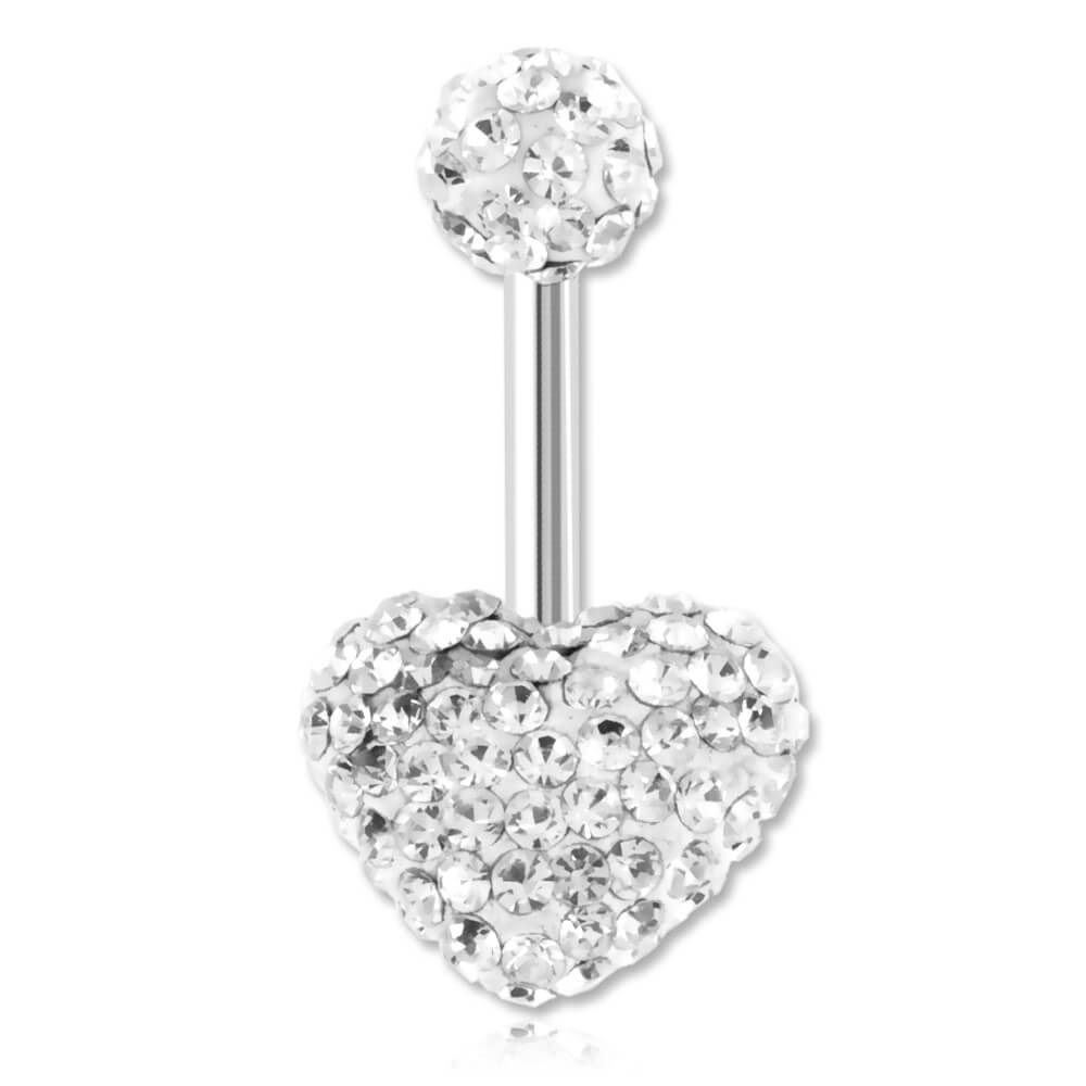 Banane de nombril Crystal Chic Coeur