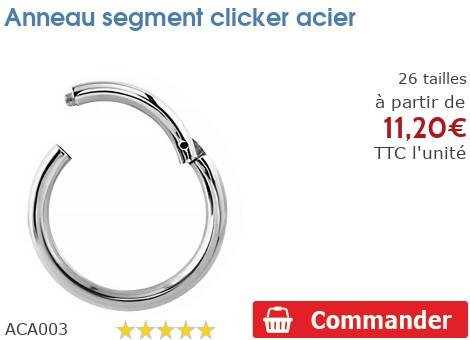 Anneau segment acier clicker