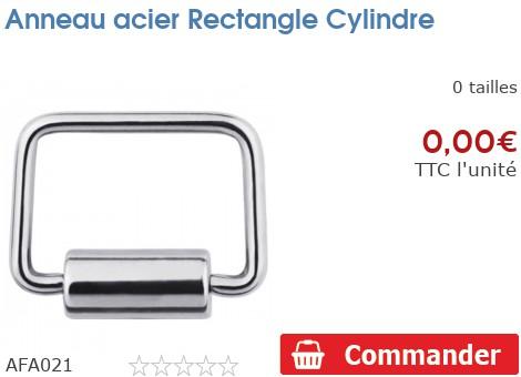 Anneau acier square cylindre