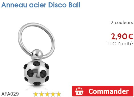 Anneau acier Discoball
