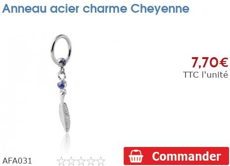 Anneau acier charme Cheyenne