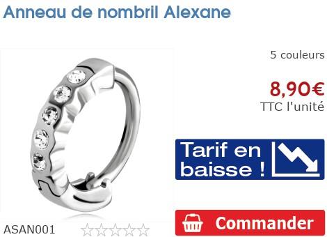 Piercing anneau de nombril Alexane