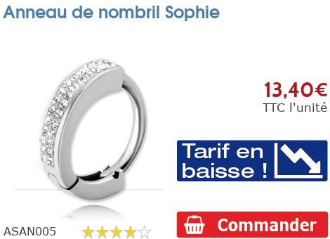 Piercing anneau de nombril Sophie