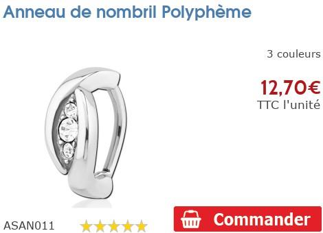 Piercing anneau de nombril Polyphème