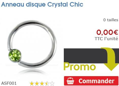 Anneau disque Crystal Chic