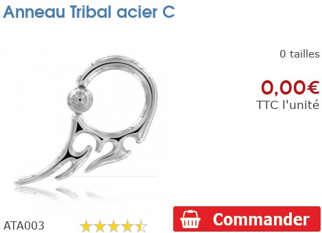 Anneau Tribal acier C