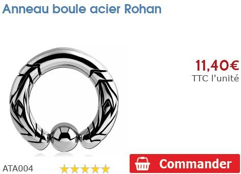 Anneau boule acier Rohan