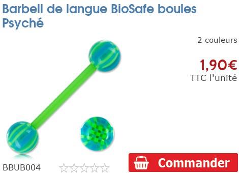 Barbell de langue BioSafe boules Psyché