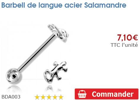 Barbell de langue acier Salamandre
