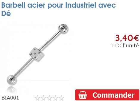 Barbell acier pour Industriel avec Dé