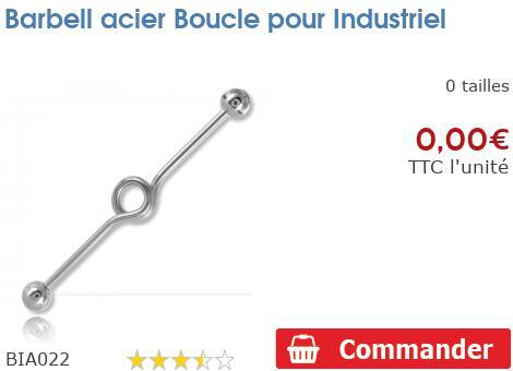 Barbell acier Boucle pour Industriel