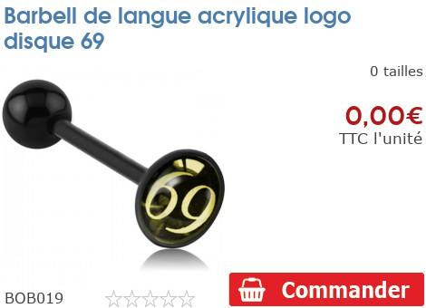 Barbell de langue BioSafe logo 69