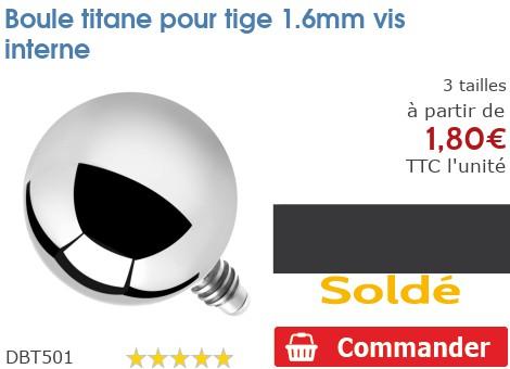 Boule titane pour micro-dermal 1.6mm