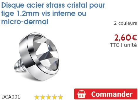 Strass pour micro-dermal pour 1.2mm
