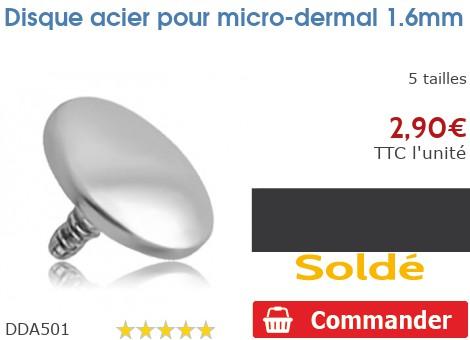 Disque acier pour micro-dermal pour 1.6mm