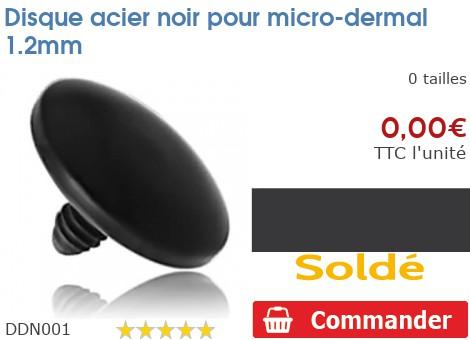 Disque acier noir pour micro-dermal 1.2mm