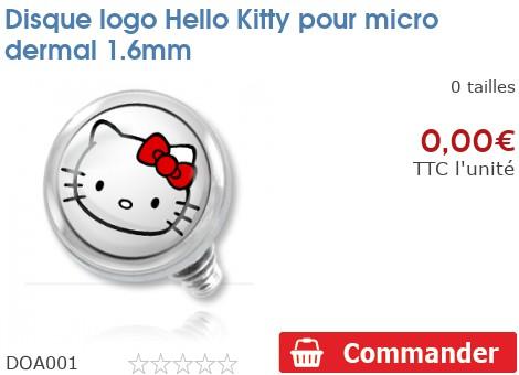 Disque logo Hello Kitty pour micro dermal 1.6mm