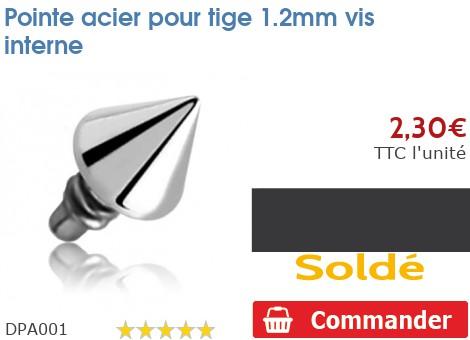 Pointe acier pour micro-dermal 1.2mm