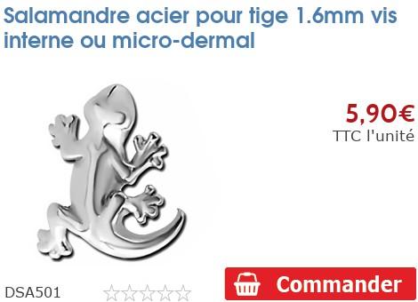 Salamandre acier pour micro-dermal 1.6mm