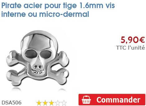 Pirate acier pour micro-dermal 1.6mm