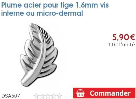 Plume acier pour micro-dermal 1.6mm