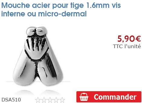 Mouche acier pour micro-dermal 1.6mm