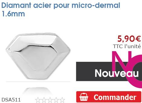 Diamant acier pour micro-dermal 1.6mm