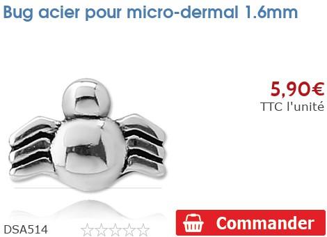 Araignée acier pour micro-dermal 1.6mm