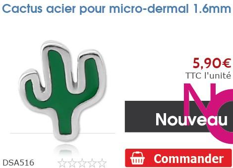 Cactus acier pour micro-dermal 1.6mm