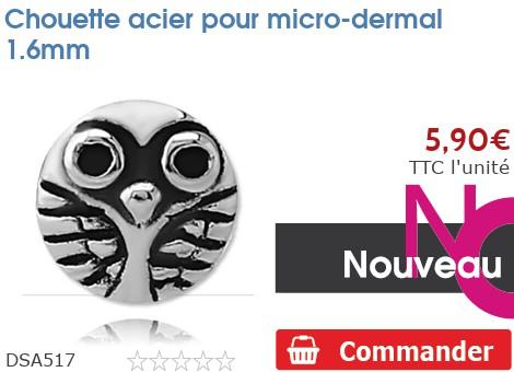 Chouette acier pour micro-dermal 1.6mm