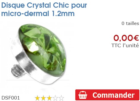 Disque Crystal Chic pour micro-dermal 1.2mm