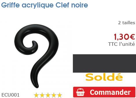 Griffe acrylique Clef noire