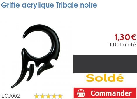 Griffe acrylique Tribale noire